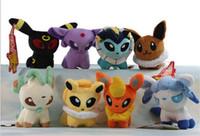 Wholesale Glaceon Leafeon Stuffed Animals - Poke Plush Toys Umbreon Eevee Espeon Jolteon Vaporeon Flareon Glaceon Leafeon Animals Soft Stuffed Dolls toy D857