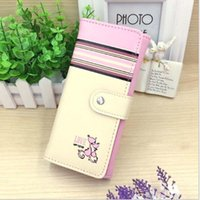 Wholesale Love Photo Clip - Candy Color Wallets Clutch Checkbook Clip Change Bag Coin Wallet Cute Cartoon Animal Love Fashion Purse for Women IN STOCK