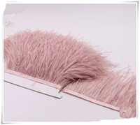 Wholesale Ostrich feather lace cloth edge multicolor clothing feather lace yard