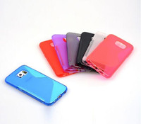 Wholesale S Line Case Galaxy - For Samsung Galaxy S7 EDGE Plus J3 J5 J7 J1 A3 A5 A7 2016 S line Grip Wave Soft TPU Gel Rubber skin Phone back cover case cases 10pcs 20pcs