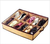 Wholesale Traditional Fabric Wholesale - Closet shoes Organizer Storage Holder Box Container Case Storer For 12 Shoes free fedex shipping