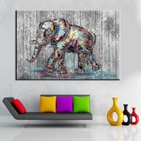 Wholesale Elephants Wall Decor - Elephant Wall Decoration Living Room Bedroom Wall Art Decor Unframed Canvas Paintings Spray Prints For Home Decorations Wholesale 2 Sizes