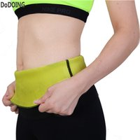 Wholesale Wholesale Waist Trainer Weight Loss - Wholesale- Hot Sweat waist shaper Neoprene Body Shaper Slimming Belt Waist For Weight Loss Women Stomach Waist Trainer cinta modeladora