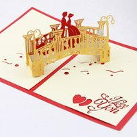 <b>Lover bridge</b> Pop up card 3D card handmade gift valentines card valentines gift