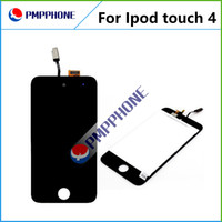 Wholesale Touch 4th Lcd Display - 20PCS LOT iPod Touch 4th 4g Digitizer Touch Screen + LCD Display Full set Assembly White and black color Free DHL FEDEX Shipping