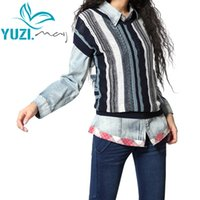Wholesale Ethnic Wear Clothing - Yuzi 2017 New Vintage&Retro Ethnic All-match Batwing Sleeve Two-sides Wear Knitwear Pullover Women Sweater B9025Women's Clothing