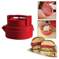 Wholesale Pizza Brands - 3PCS Set Stuffed Hamburger Burger Press Meat Pizza Stuffed Juicy Patty Maker Grill New Brand Sold by EWIN24
