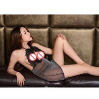 Wholesale Girl Sex Skirt - Sex appeal underwear real adult sex appeal transparent body bag skirt son uniform suit girl