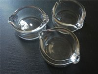 Wholesale Glass Ashtray Wholesale - Wax glass container Oil Ring Ashtray Dish Glass Ashtray Dish Dabber Dish for Nectar Collector Honey Dab Straw
