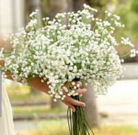 Wholesale White Gypsophila Flowers - Gypsophila silk baby breath Artificial Fake Silk Flowers Plant Home Wedding Party Home Decoration Free Shipping