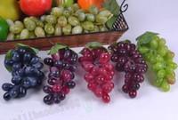 Wholesale vine fruit online - Artificial Fruit Grapes Plastic Fake Decorative Fruit Bunches Lifelike Home Wedding Party Garden Decor MYY
