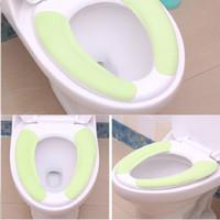 Wholesale Toilet Seats Covers Soft - 200pcs Wholesale Soft Comfortable Artificial Fiber Washable Bathroom Toilet Seat Cover Mat Lid Closestool Cloth ZA0443