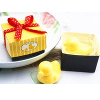 Wholesale Baby Duck Soap - Wholesale- 20pcs lot duck baby shower favor scented soap savon wedding soap souvenirs
