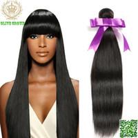 6a sınıf saç toptan satış-Malezya Bakire Insan Saçı Örgü Ipeksi Sraight Virgin Saç Demetleri 3 Parça Çok Virgin İnsan Saç Uzantıları Sınıf 6A Saç Atkı