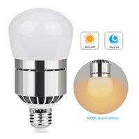 Wholesale Lamp Automatic Bedroom - LED Light Bulb 12W 2835 SMD LED Lamp Bulb E27 B22 Bayonet Dusk To Dawn Automatic On Off Sensor Light Bulb For Porch AC85-265V