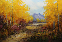 Wholesale oil landscapes painting knives for sale - Framed Hot Sell Hand Painted Thick Oil Color Palette Knife Abstract Landscape Oil painting Modern Living Room Home Decor Canvas DH018