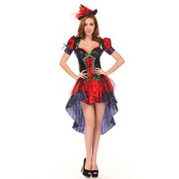 Wholesale Adult Witches Halloween Costume - Wholesale-Sexy adult witch costume hot witch dress for women Halloween cosplay witch party role play carnival witch costumes 2946