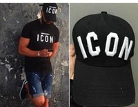 Ball Cap black style icons - 2016 New Styles Top Cap Baseball Adjustable Sunless Caps Snapback Black Hat Men Women ICON Embroidery Logo Hat