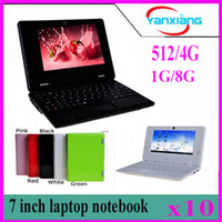 10pcs VIA 8880 7Inch Notebook Dual core Android 4.2 HDMI Google Cámara frontal 512MB 4GB Opción MINI Laptop yx-cp-1