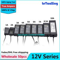 50pcs AC DC Power Supply 12V 1A 2A 3A 4A 5A 6A 8A 10A 8.5A, adattatore 12V 12W 24W 60W 100W 120W per la striscia del LED con chip IC