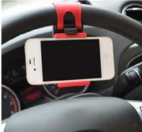 bisikletli araba monte etmek toptan satış-Cep Telefonu Tutucu Dağı Klip Toka Araba Direksiyon Telefon Soket Tutucu iPhone7 için Akıllı Klip Bisiklet Dağı Artı Samsung S5 S6 Kenar