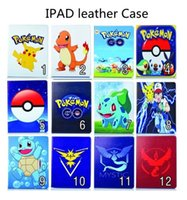 Wholesale Silicon Animals - Cartoon Pikachu Poke Tablet PU Flip Leather Case Stand Pouch For IPAD2 3 4 IPAD mini 1 2 3 mini4 ipad Air 5 ipad Air2 6 poke go ball cases