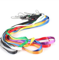 Wholesale Charms For Cellphones - Universal mobile phone lanyard strap Long design Lanyards Neck Strap DIY Hang Rope Lariat Lanyard For Cellphone MP 3 4 usb drive ID Card