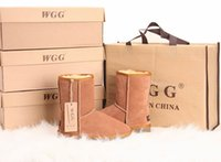 Wholesale Womens Faux Leather - 2017Free shipping High Quality WGG5825 Women's Classic tall Boots Womens boots Boot Snow Winter boots leather boot US SIZE 5---13