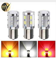 Wholesale Led Red Cree Brake - 1156 1157 7440 7443 Cree Chip LED 12 SMD 5730 W21 5W 5W Car Led Bulb Turn Signal Brake Light Source parking