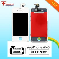 Wholesale Iphone 4s Lcd Digitizer Oem - for iPhone 4 4 CDMA 4S LCD Display & Touch Screen Digitizer Full Assembly OEM Black White LCD Screen 100% Test Free Shipping