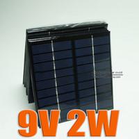 Wholesale Wholesale Small Solar Panels - 9V 2W 220mA Mini monocrystalline polycrystalline solar battery Panel charge for small solar power kit DIY education study