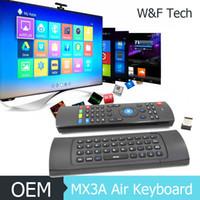 entrada de micro al por mayor-1PCS MX3A Air Keyboard 16khz Frecuencia de muestreo alta Funciones de entrada de voz MIC Soporta juegos somatosensoriales Conveniente y ligero 052
