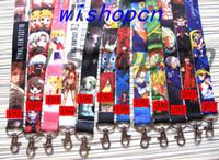 Wholesale japanese girl keychain - Wholesale Popular Cartoon Japanese anime Neck Lanyards Keychain ID Badge Holder g-1