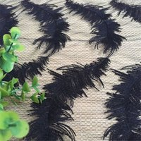 Wholesale Black Venice Lace Trim - Delicate 5yards white black fabric feather venise venice lace trim fabric sewing craft 130 cm
