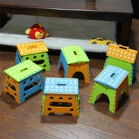 Wholesale Stool Plastic - New Children Stools Outdoors Portable Plastic Folding Picnic Stool For Home Furnitures Creative Gifts Multi Colors 13hy C