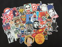 Wholesale Diy Phone Stickers - Wholesale-10PC mixed decal Car Styling Skateboard Laptop Luggage Snowboard Car Fridge Phone DIY Vinyl Decal Motorcycle Cute Sticker Covers
