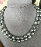 beaded necklaces womenu0027s gift hot double strands 1112mm south sea baroque grey pearl necklace
