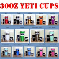 Wholesale Christmas Gift Cups - The new 2016 Christmas Gifts 14 Colors 30oz Yeti Rambler Tumbler Cup Coolers Powder Coated Bilayer Vacuum Insulation Cup Yeti Tumbler Mug