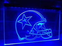 LA236b- Dallas Cowboys Helmet Beer Bar LED Neon Light Sign
