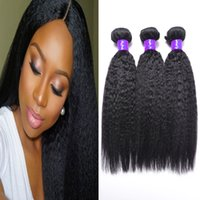 Wholesale Straight Light Yaki Weave - grade 8a hair weave malaysian virgin hair kinky straight 3 bundles malaysian hair light yaki hair weaves kilala hair kinky yaki weft