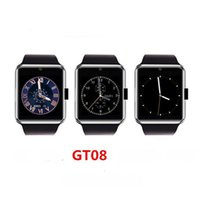 Wholesale Multiple Sim - GT08 multi-function silicone smartwatch photo video running SIM bluetooth phone gift high quality Android IOS multiple systems watch