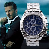 Wholesale Magnets Mm - Men Luxury Watches Three Eyes Six-Pin Waterproof Watch Stainless Quartz Movement Anti-Shock Anti-Magnet Businessman Wristwatch