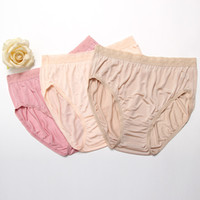 Wholesale High Rises Bikinis - Wholesale-Plus-size, 100% pure silk, women's briefs, underwear panties high rise.
