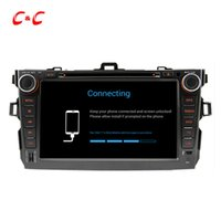 Quad Core HD 1024 * 600 Android 5.1.1 Car DVD Play forToyota Corolla com GPS de navegação Radio Wifi Mirror link DVR