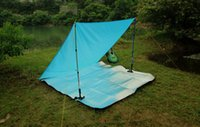 suppliers-suppliers Canada - wholesale-Outdoor Camping tent 2 person tarp Sun beach tent light waterproof tarp gazebo party tents camping family free shipping