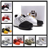 Wholesale Red Rockets - Hot Sale Harden Vol. 1 Men Basketball Shoes James Harden Vol. 1 Home BW0547 JH13 Rocket Red White GS Boost Shoes Sneakers 40-46