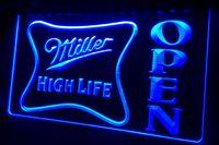 néon, sinal, alto, vida venda por atacado-LS439-g Miller alta vida OPEN Bar Neon Light Sign