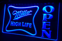 Wholesale neon sign high life for sale - Group buy LS439 g Miller High Life OPEN Bar Neon Light Sign