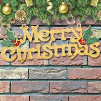 Wholesale Gold Leaf Supplies - Merry Christmas Alphabet Decoration with Leaf Christmas Decorative Prop for Christmas Tree Party Santa Claus tree