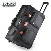 Wholesale 26 quot extended trip packing case Rollaway oxford wheel Rolling Waterproof trolley luggage bag travel bag Checked hand luggage